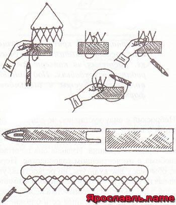вязание рыбацких сетей